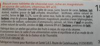 biscuit chocolat noir - Ingredients
