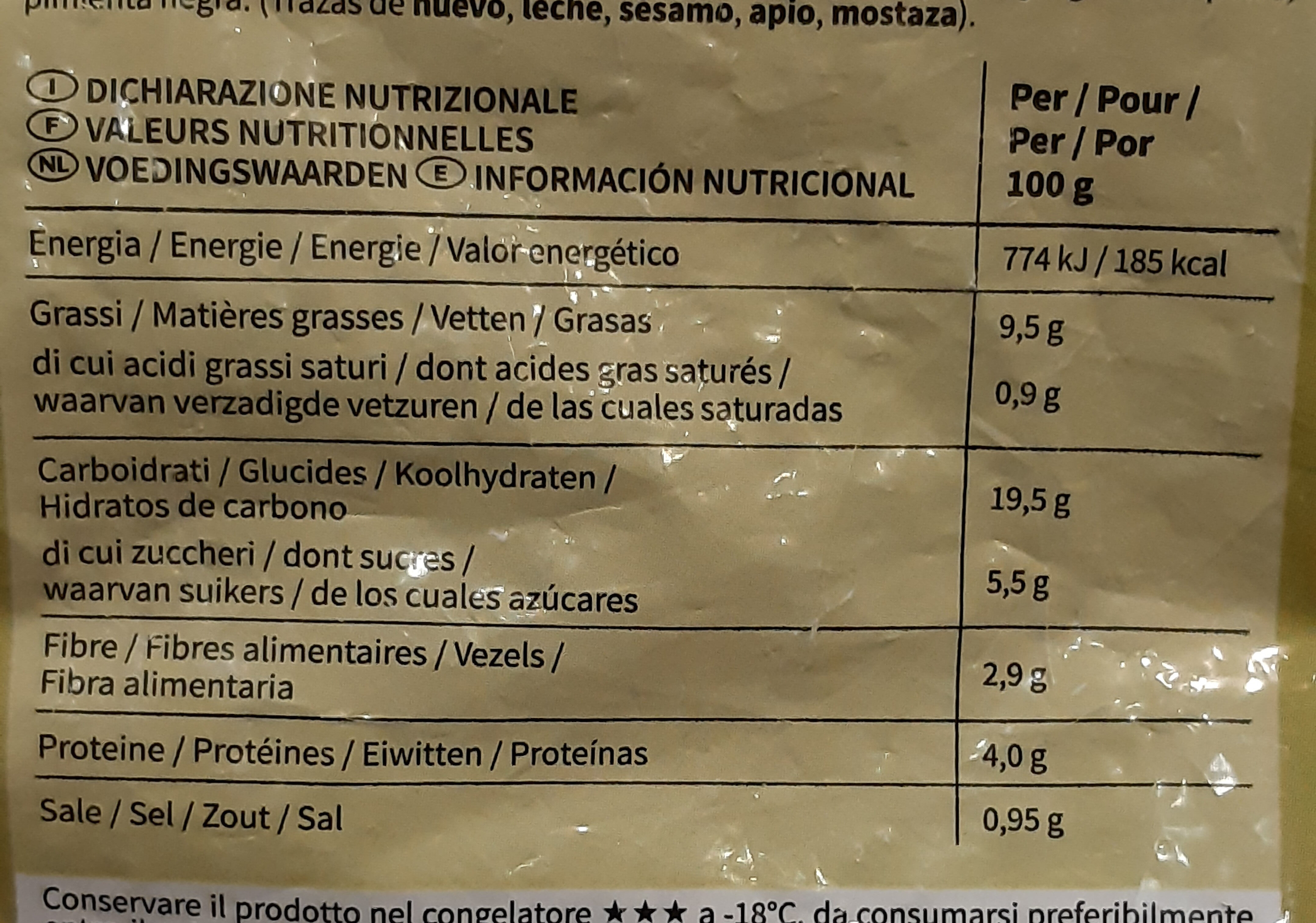 Medaillons de quinoa - Nutrition facts - fr