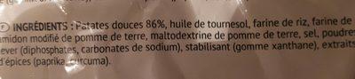 Bofrost Süßkartoffel pommes - Inhaltsstoffe