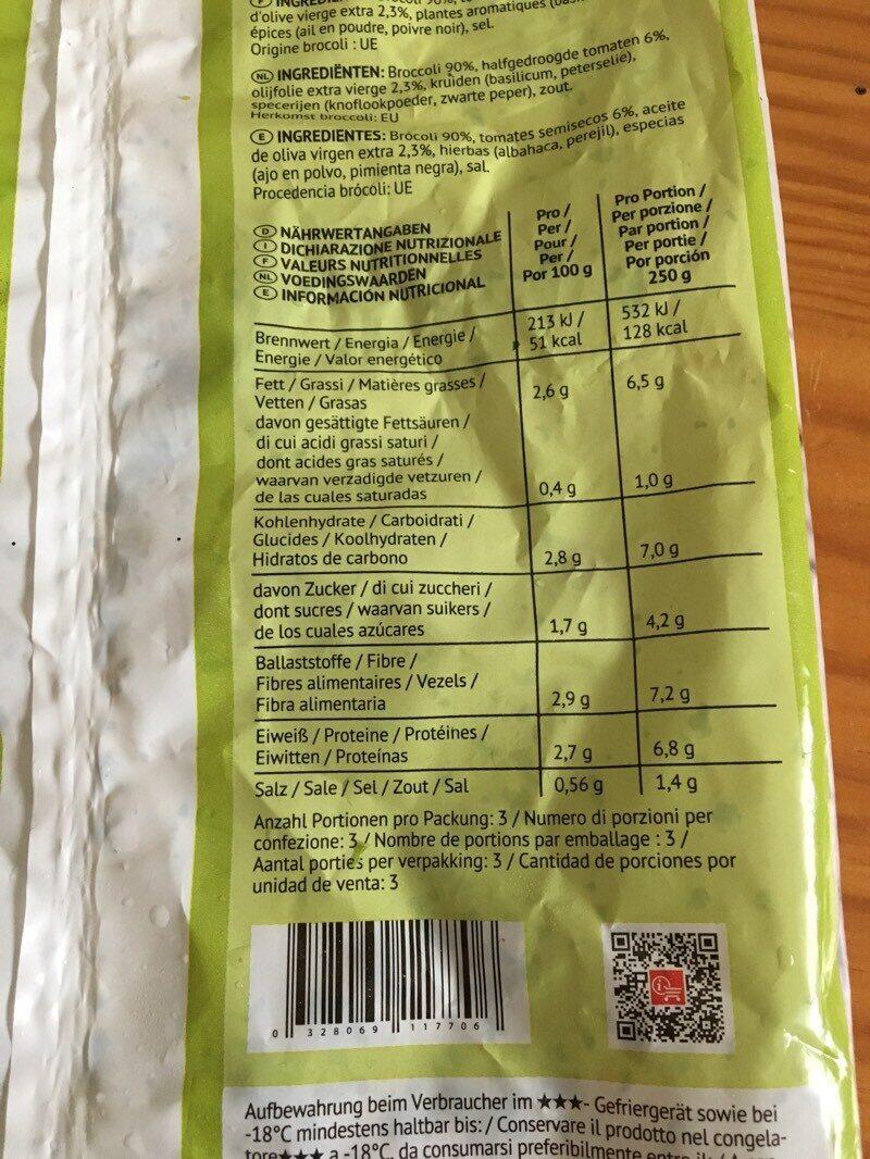 Arroz de brócoli - Informations nutritionnelles - es