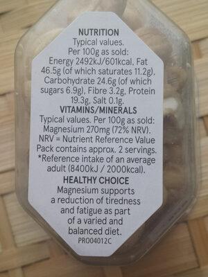 Cashew Nuts - Informations nutritionnelles - en