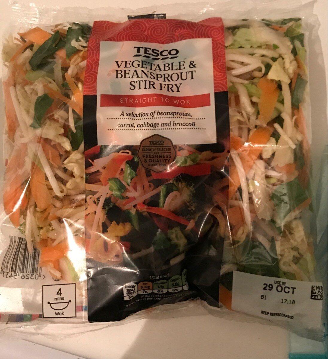 Vegetable & Beansprout Stir Fry - Product - en