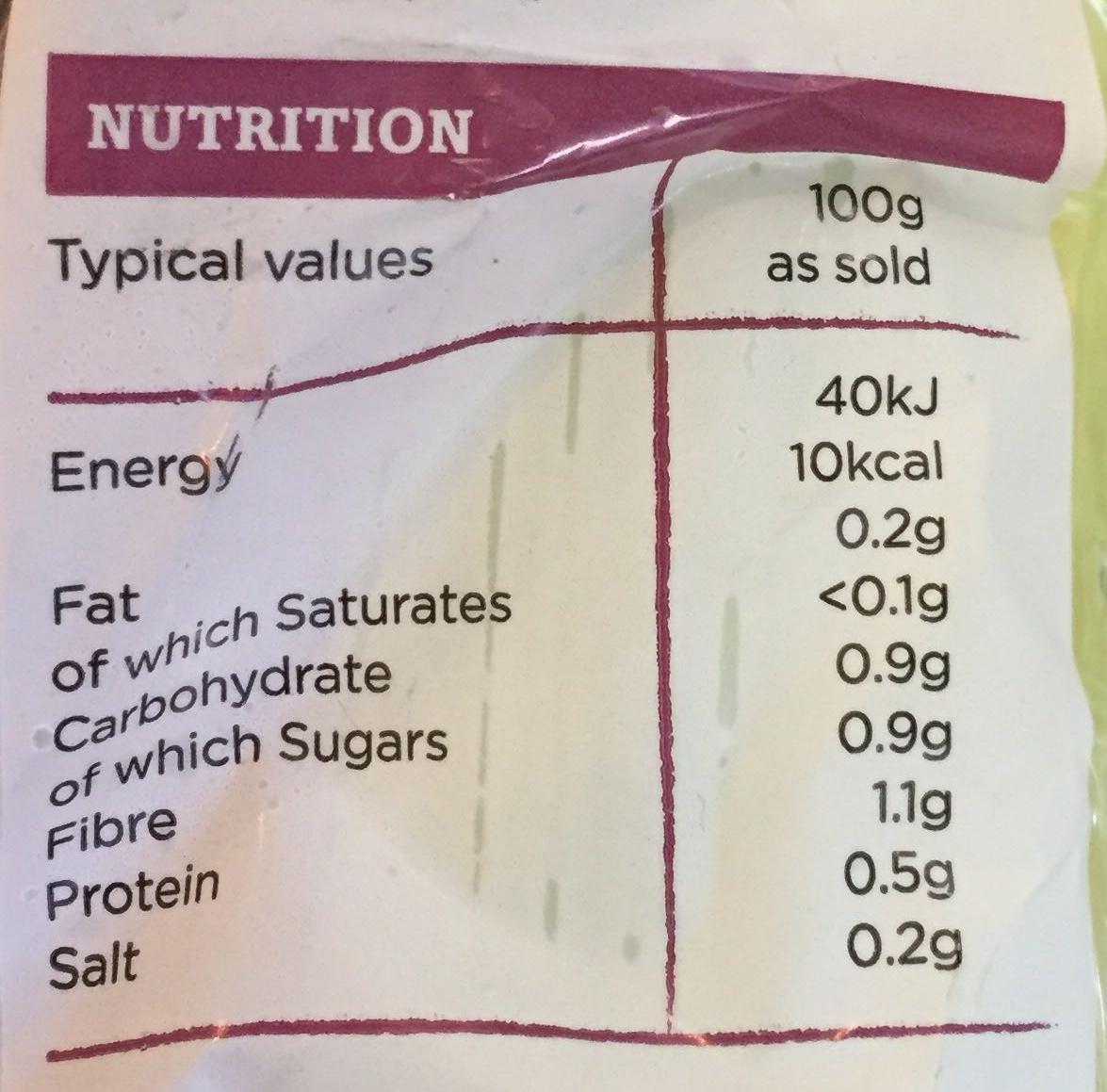 Celery - Nutrition facts - en