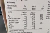 The Triple - Informations nutritionnelles - en