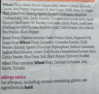Sweet Potato Pakora Wrap - Ingrediënten - en