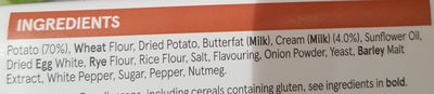 Potato croquettes - Ingredients