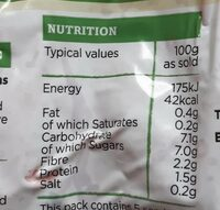 Redmere farms - Valori nutrizionali - en