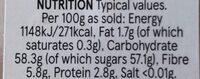 Soft Apricots - Nutrition facts - en