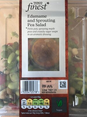 Tesco finest Edamame and Sprouting Pra Salad - Product