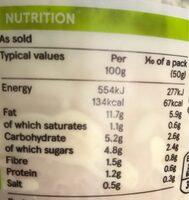 Eastman's Coleslaw - Nutrition facts