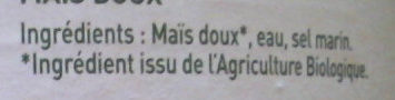 Maïs Doux - Ingredients - fr