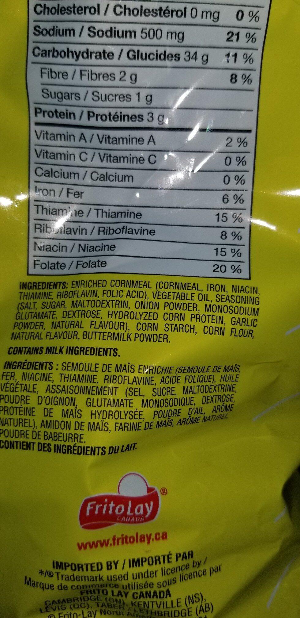 funyuns - Ingrédients - en