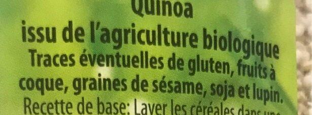 Quinoa - Ingrediënten
