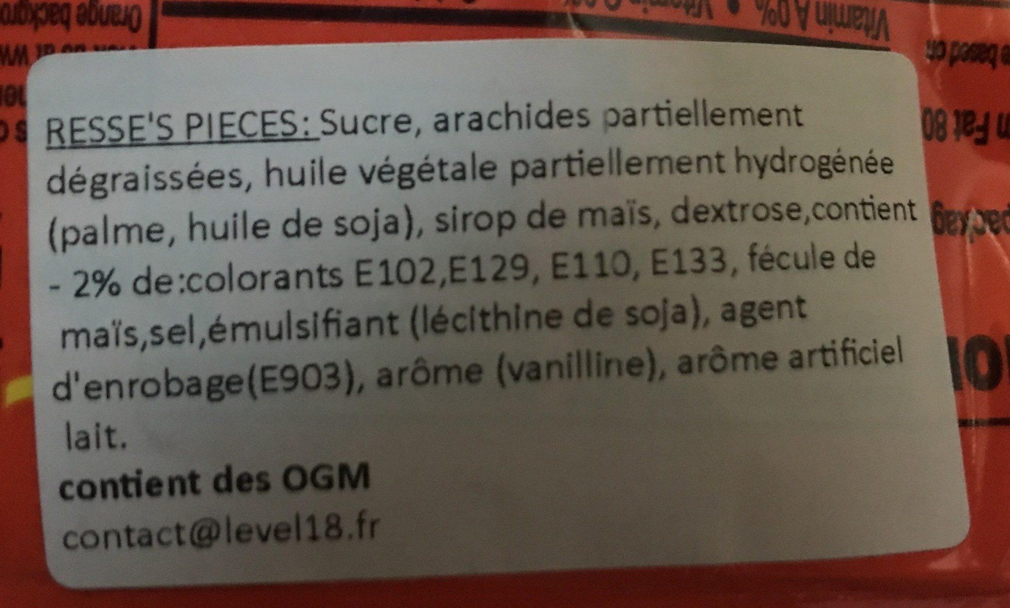 Reese's Pieces - Ingredients