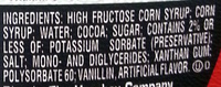 Genuine Chocolate Flavor Syrup - Ingredients - en
