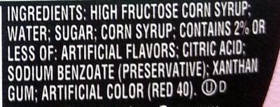 Strawberry Syrup - Ingredients - en