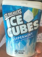 Ice Breakers Ice Cubes Sugar Free Peppermint Gum, 40 Pieces - Product
