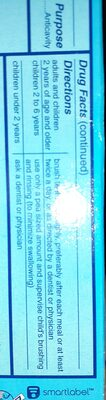 ultra brite advanced whitening - Nutrition facts - aa