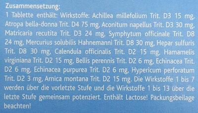 Traumeel s - Ingredients - de