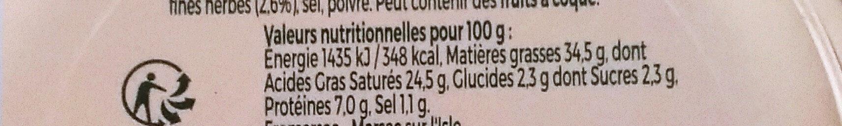Tartare - familial - Informations nutritionnelles - fr