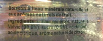 Volvic zest citron - Ingrédients