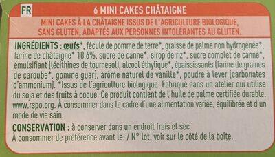 P'tits cakes - Ingrédients