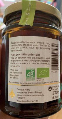 Miel de chataigner - Ingrédients - fr