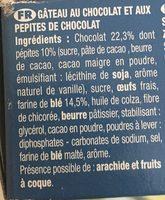 Brownie chocolat pépites - Ingrediënten