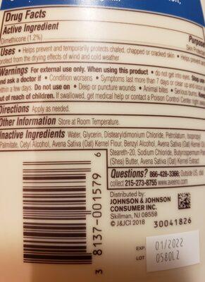 Aveeno Skin relief moisturizing lotion - Ingredienti - en