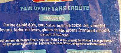 100% mie - Ingredients