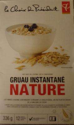 Gruau instantané nature - Produit - fr