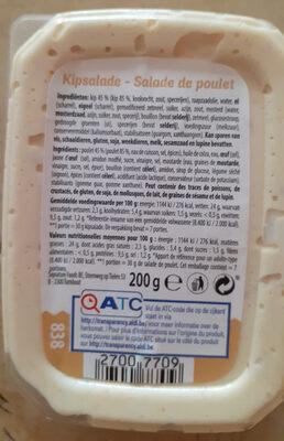 salade de poulet - Informations nutritionnelles - fr
