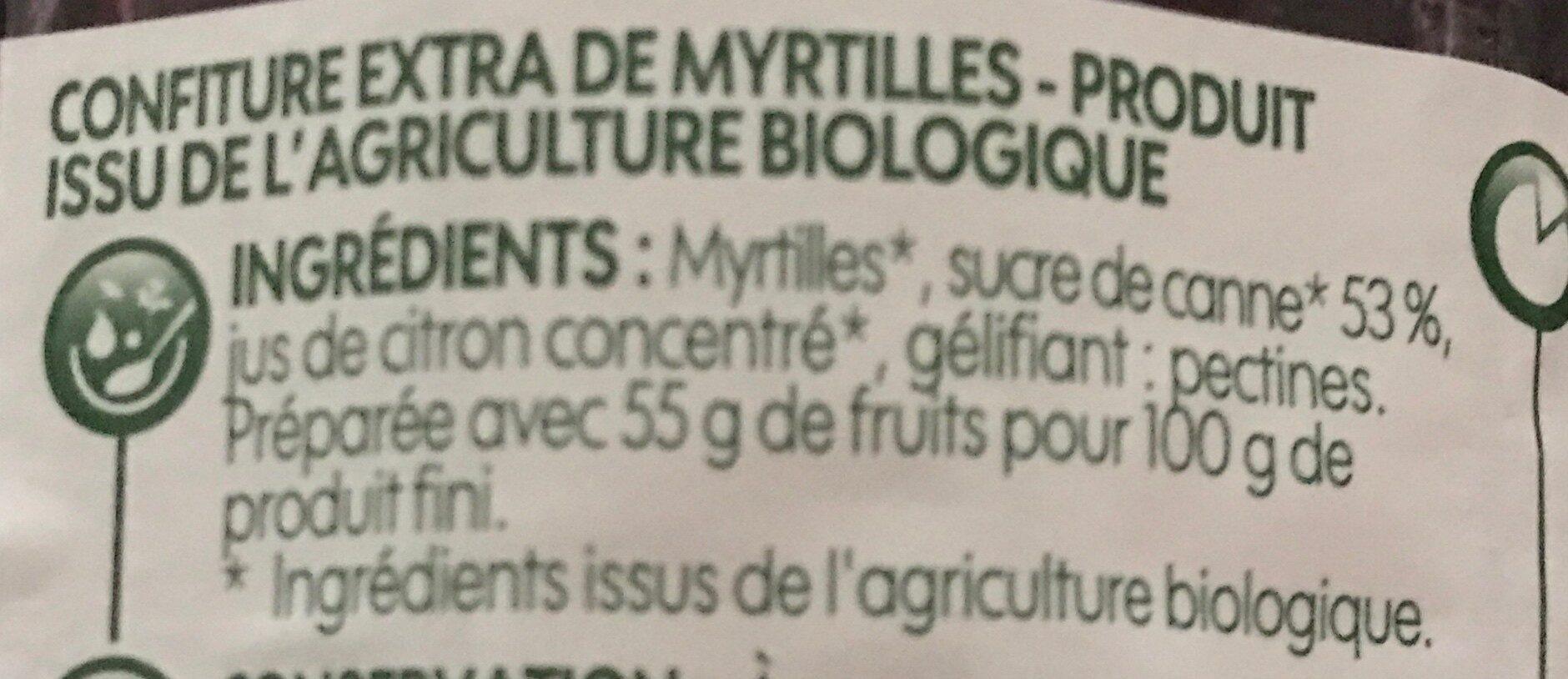 Confiture Myrtilles - Ingredienti - fr