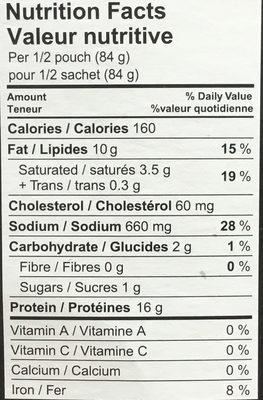 Montréal Smoked Meat - Informations nutritionnelles - fr