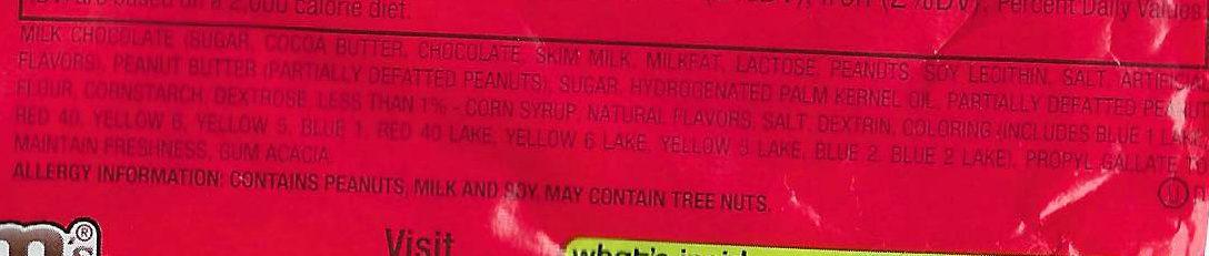 Peanut butter chocolate candies - Ingredients - en