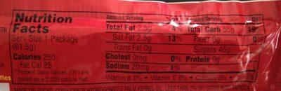 Skittles Original - Nutrition facts - en