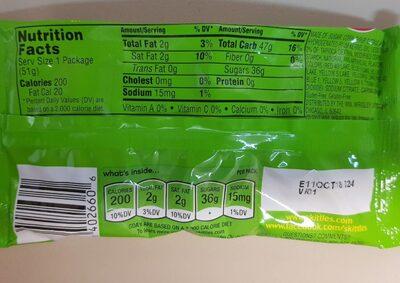 Skittles Bite Size Candies Sour - Nutrition facts - en