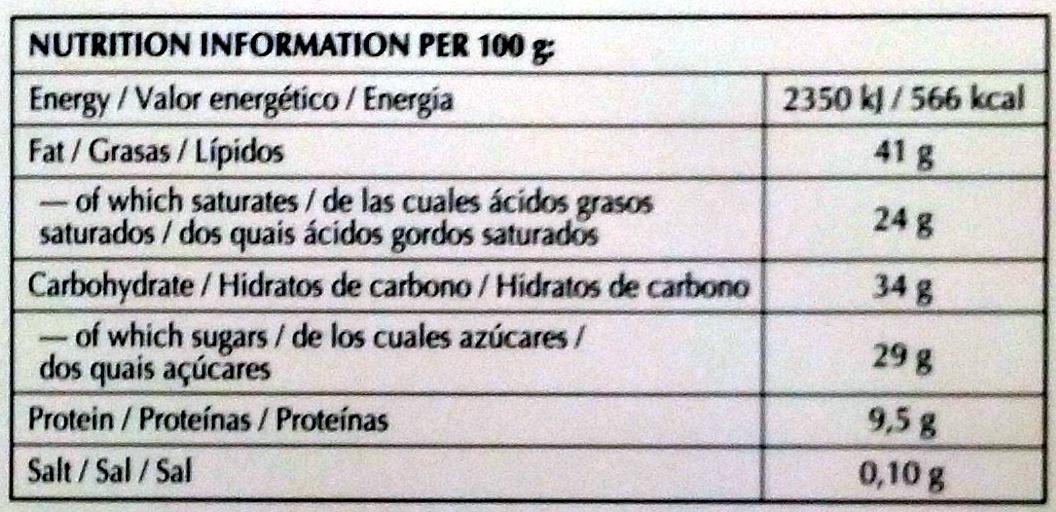 Dark Chocolate 70% Cocoa - Nutrition facts