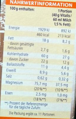 Knusper Pop Müsli - Voedingswaarden - de