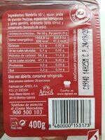 Dulce de membrillo - Informations nutritionnelles