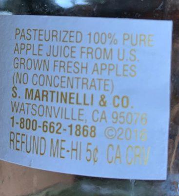 100% pure apple juice from US grown fresh apples - Ingredients
