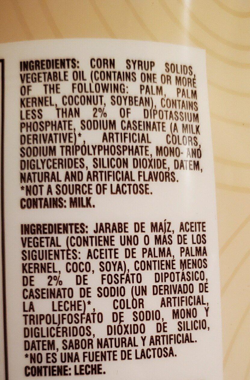 flavor charm coffee creamer - Ingrédients - en