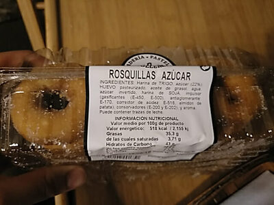 Rosquillas de azucar - Ingredients