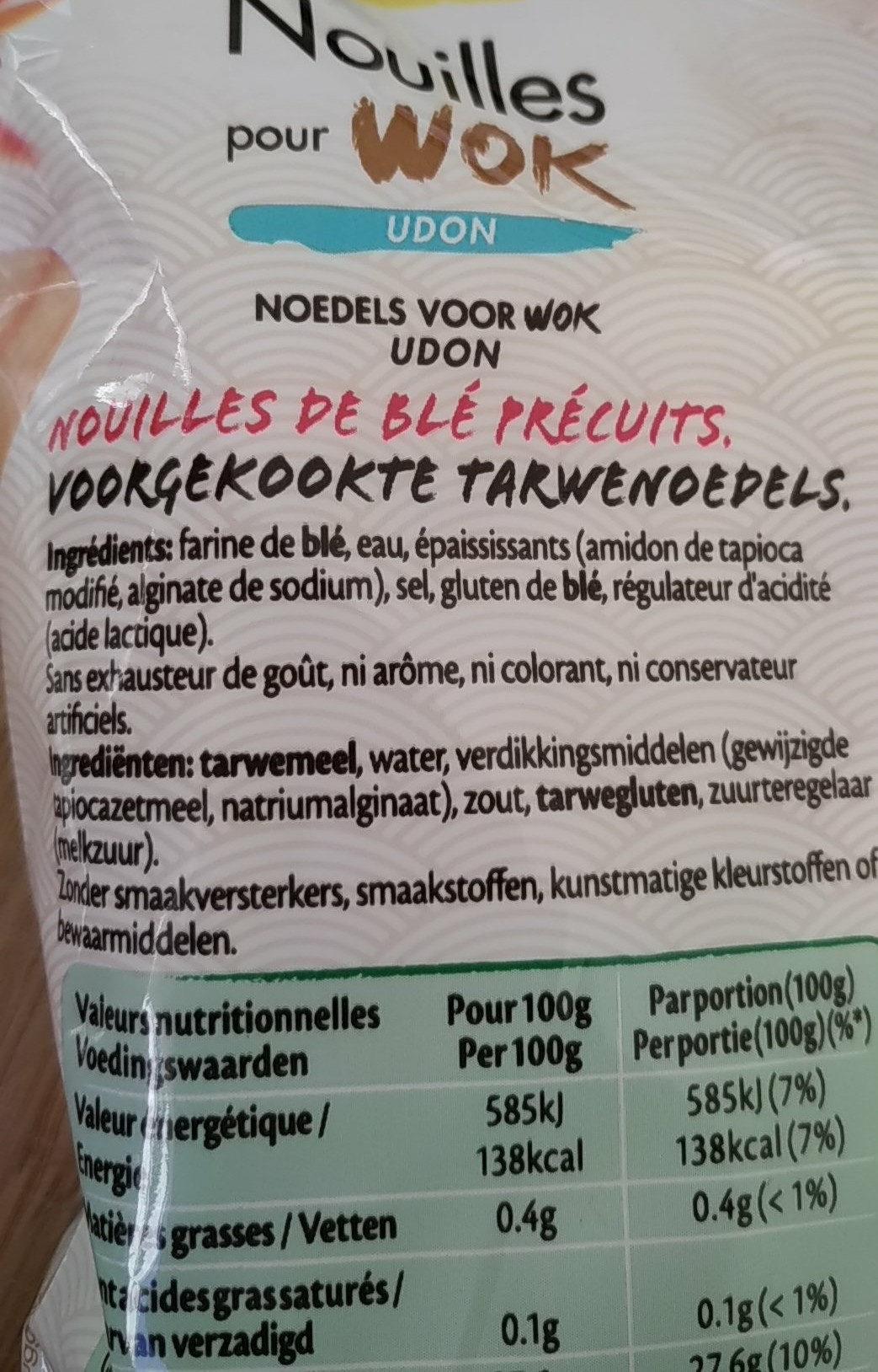nouilles pour wok - Ingrediënten