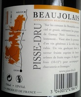 Pisse-Dru 2011 - Ingrédients