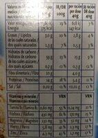 copos de avena - Nutrition facts - es