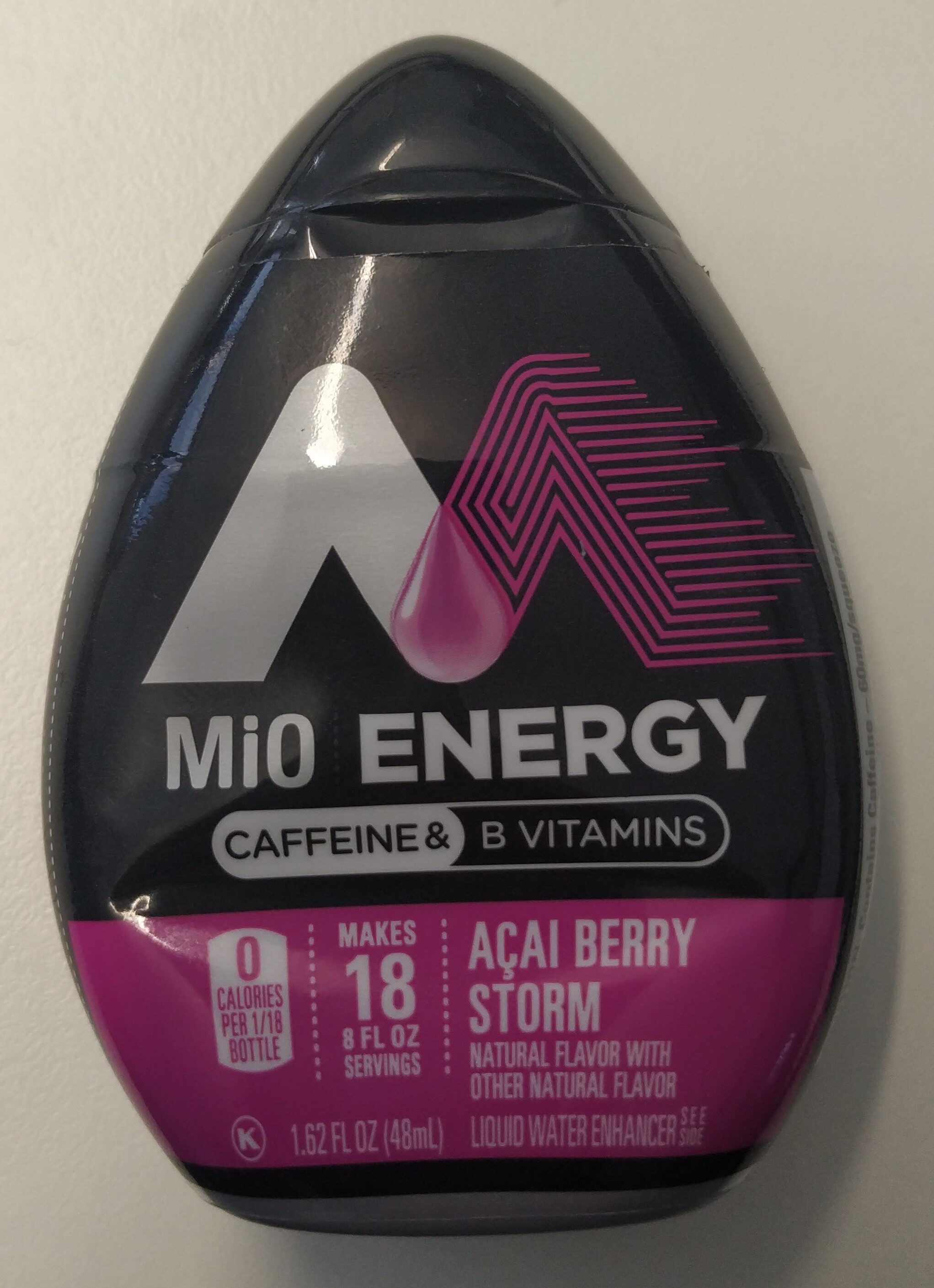 Energy Liquid Water Enhancer, Acai, Berry Storm - Product