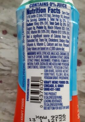 Crystal Light - Nutrition facts