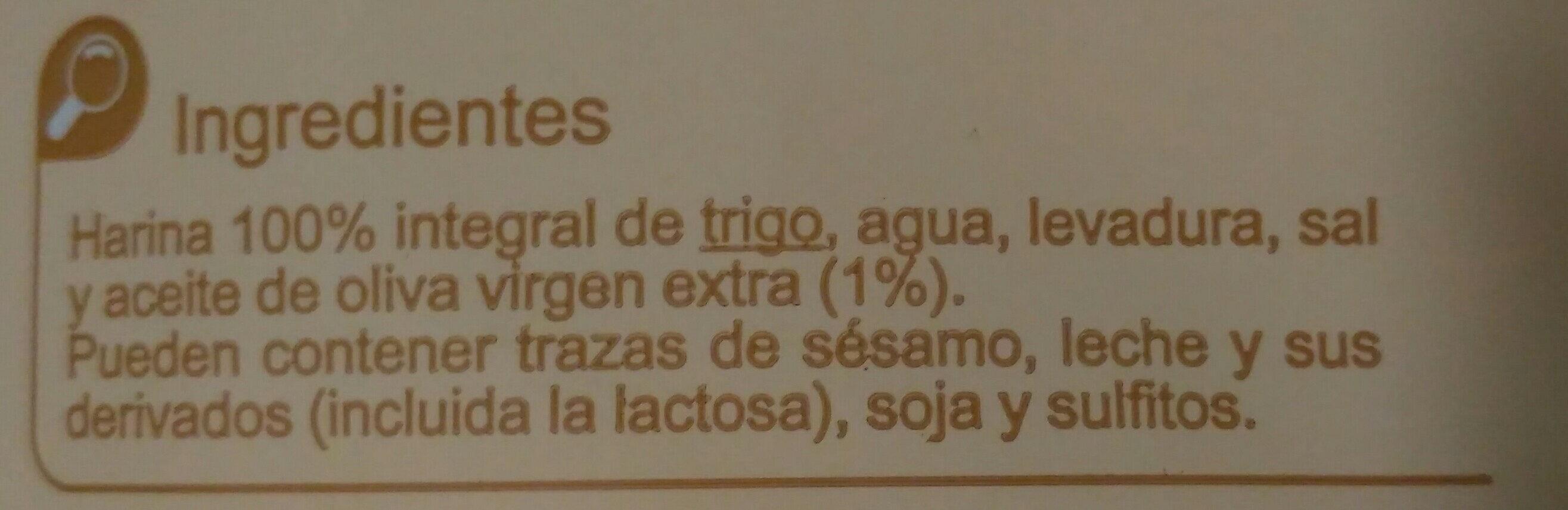 Colines 100% Integrales - Ingredients - es