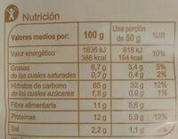 Colines 100% Integrales - Informació nutricional - es